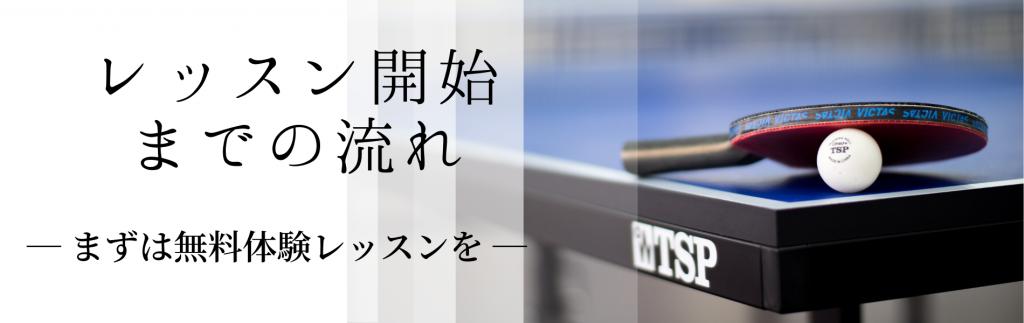 秩父の卓球クラブ OHANA卓球クラブご利用の流れ
